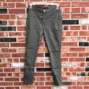 Olive Green High Waisted Refuge Skinny Jeans